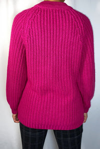 Vintage Punctuation Knitted Sweater (size small)