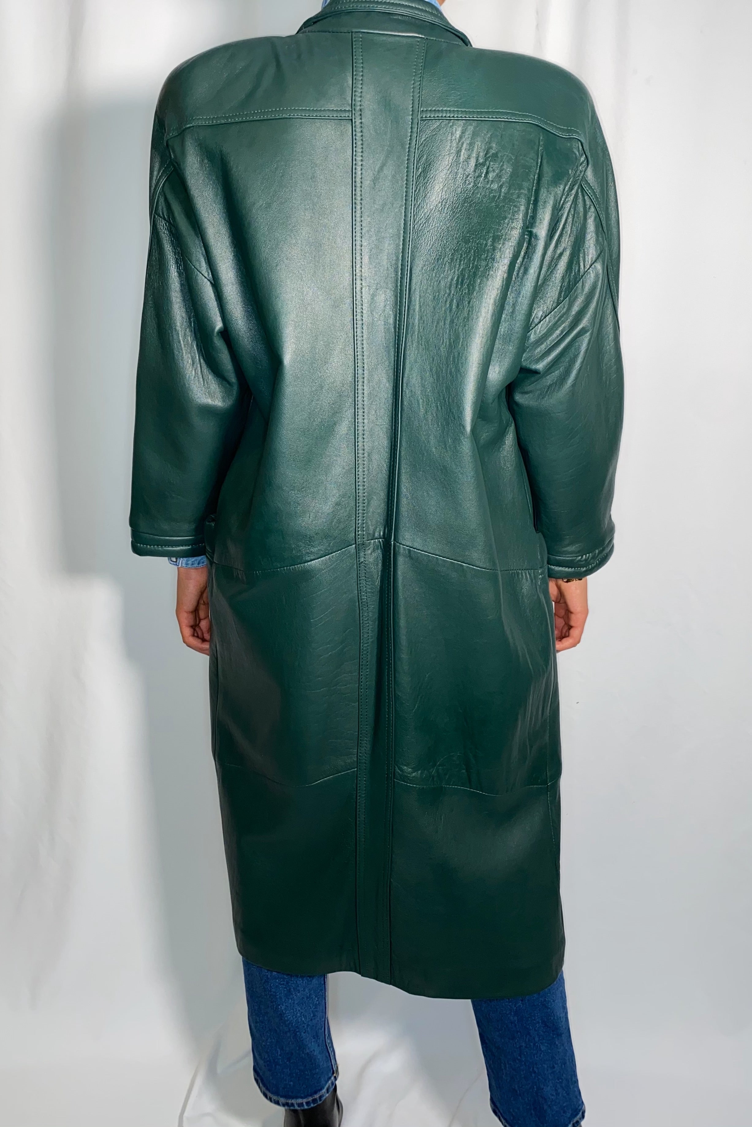 Vintage Winlit Special Editions Leather Coat (size medium)