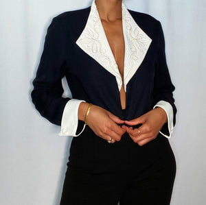 Vintage John Roberts Cropped Blazer (size 10, or medium)
