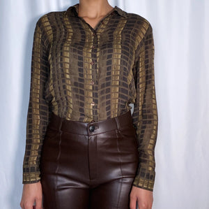 Vintage Tracy M. Silk Top (size large)