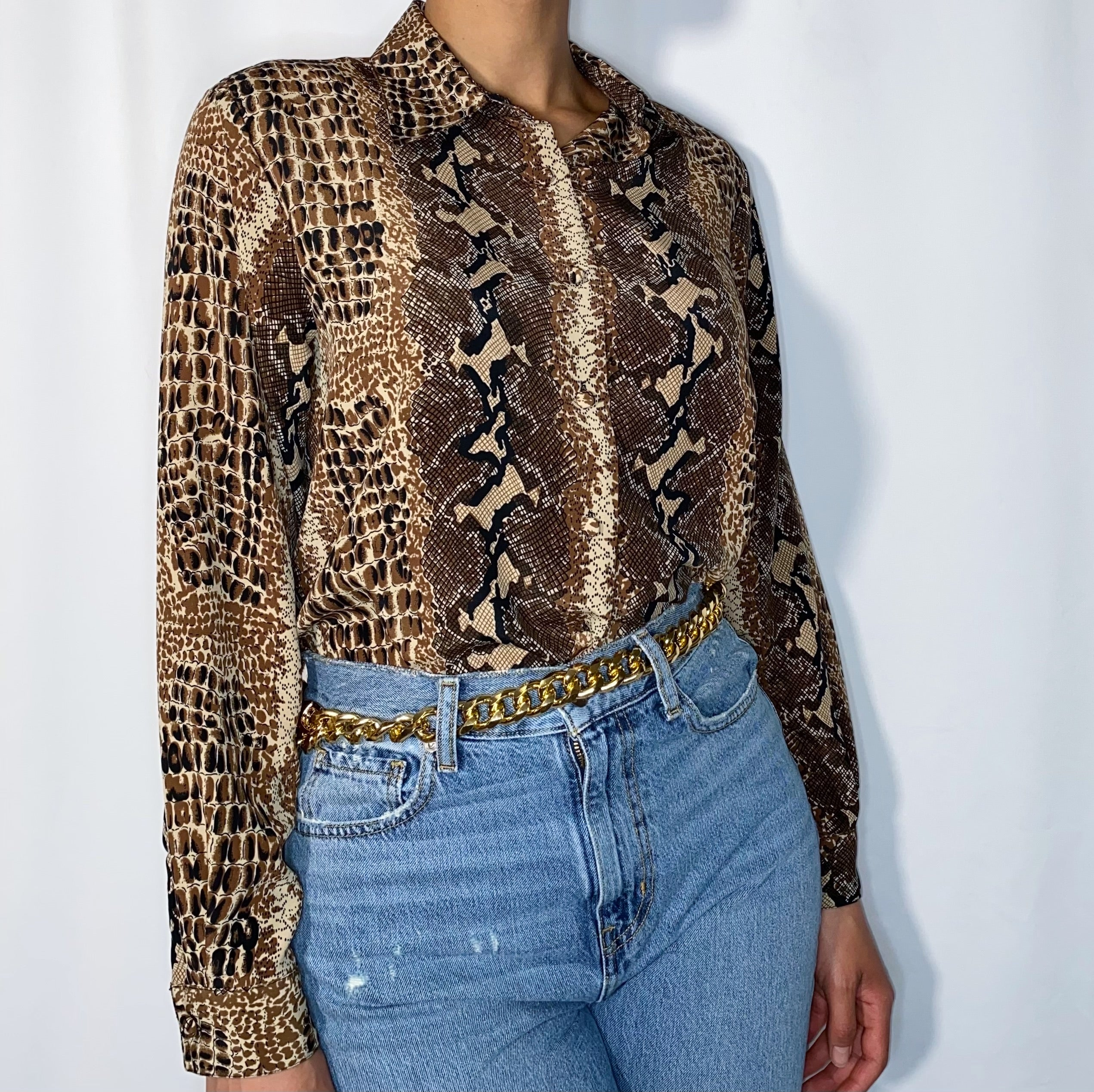 Vintage Yves St. Clair Python Blouse (size 8)