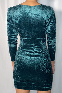 Vintage All That Jazzy Green Dress (size small)