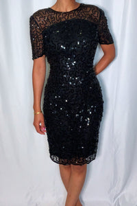 Vintage Sequin Dress by Leslie Fay (size 12)