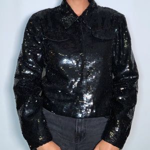 Vintage Newport News Sequin Jacket (size 12)