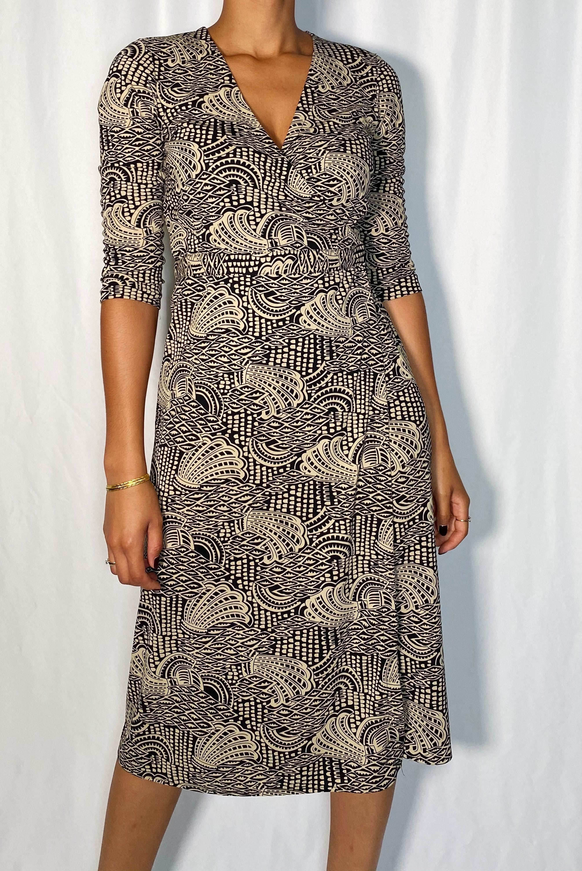 Vintage Nine West Wrap Midi Dress (size small)