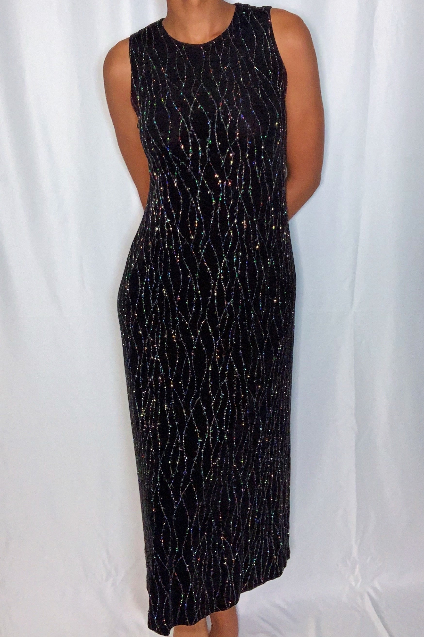 Vintage Glitter and Sparkly Dress by Ronni Nicole (size 10P)