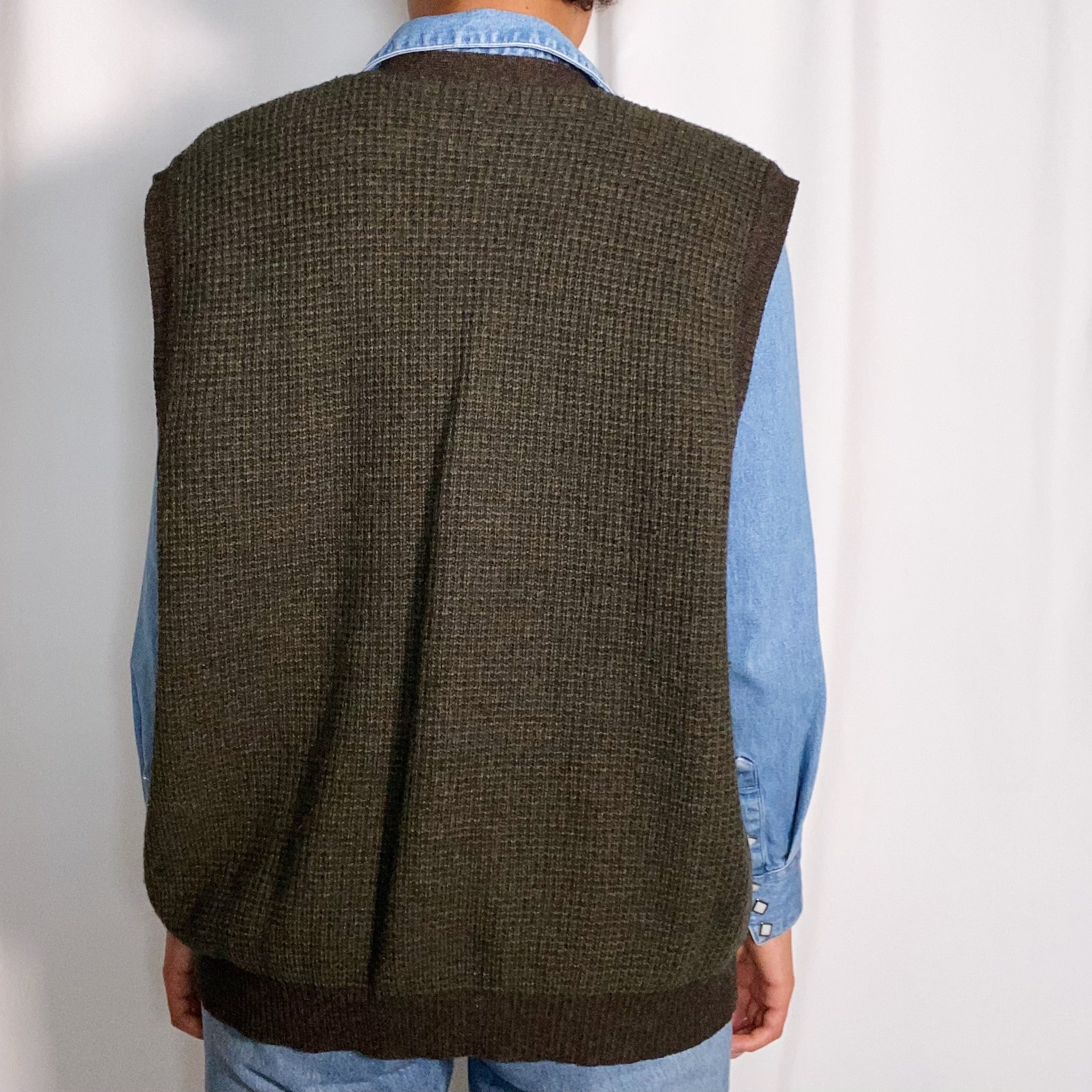 Vintage Club Room Wool Sweater Vest (size large)