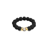 Black gemstone bracelet