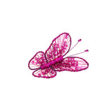 Fuchsia Swarovski crystal statement butterfly  brooch