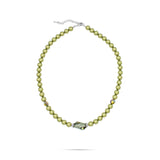 green pearl crystal necklace