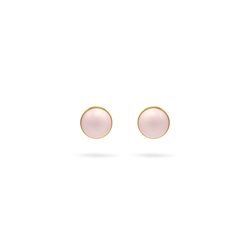 Soft pink Swarovski pearl, 24K Gold plated earrings
