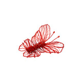 Red Swarovski crystal statement fashion fine butterfly brooch handmade ootd
