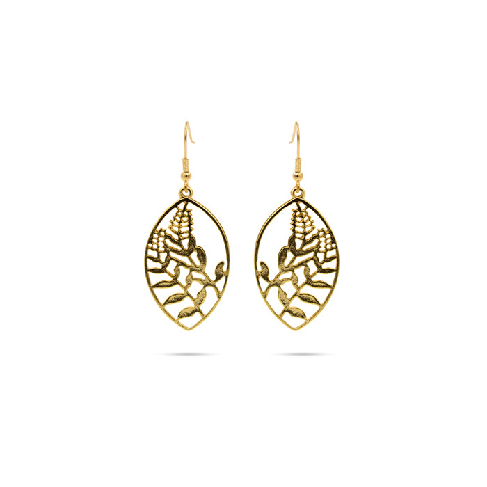 Gold tone earrings with gold plated hooks