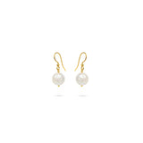 white baroque pearls gold plated earrings