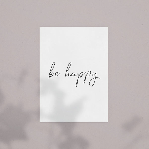 Postkarte | Be happy