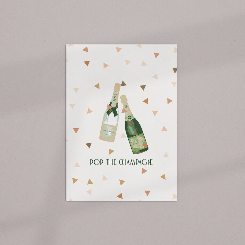 Grußkarte | Pop the Champagne