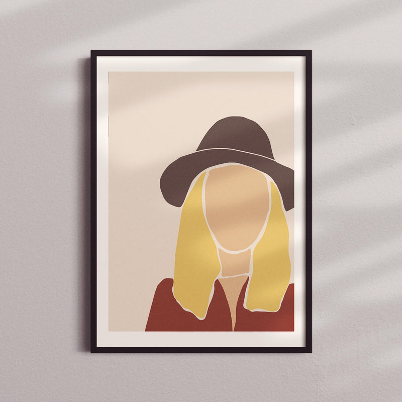 Woman Silhouette | Blonde Hat