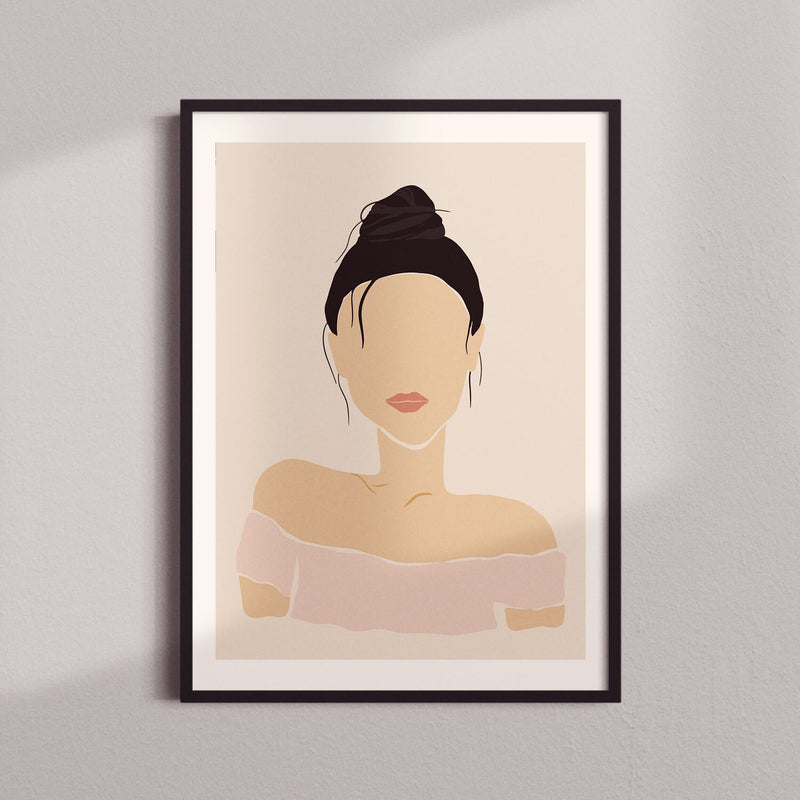 Woman Silhouette | Black Hair