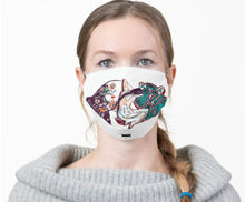 Load image into Gallery viewer, Heal with Our Mother White Cloth Face Mask