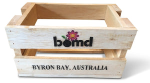 bomd - Rustic Vintage Crate with Retro Stenciling - Wooden Storage Box