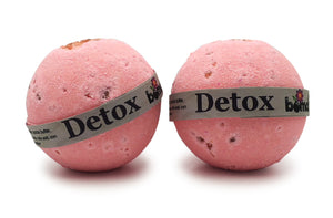 Set of Two Detox Soak Bath Bomb Detoxifyin, Antioxidant Bath Bomb Smells Amazing with a Fresh Pink Grapefruit Citrus Burst