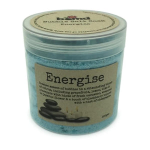 Energise Bubble Salt Relaxing Full Body Soak by Bomd Body 220gms Natural Body Love