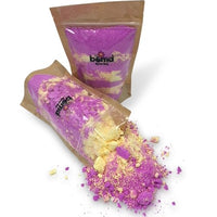 FOMO Fizzing Pink and Yellow Bubble Bath Dust Creates thick luscious moisturising bubbles