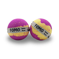 FOMO As soon as you drop this bomb into your bath the fun is released with a burst of colour, the fragrance is full with juicy orange and ozonic accord