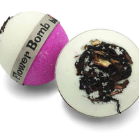 Flower Bomb_Bath_Bomb_with_Real_Hibiscus_Rosella_Flowers