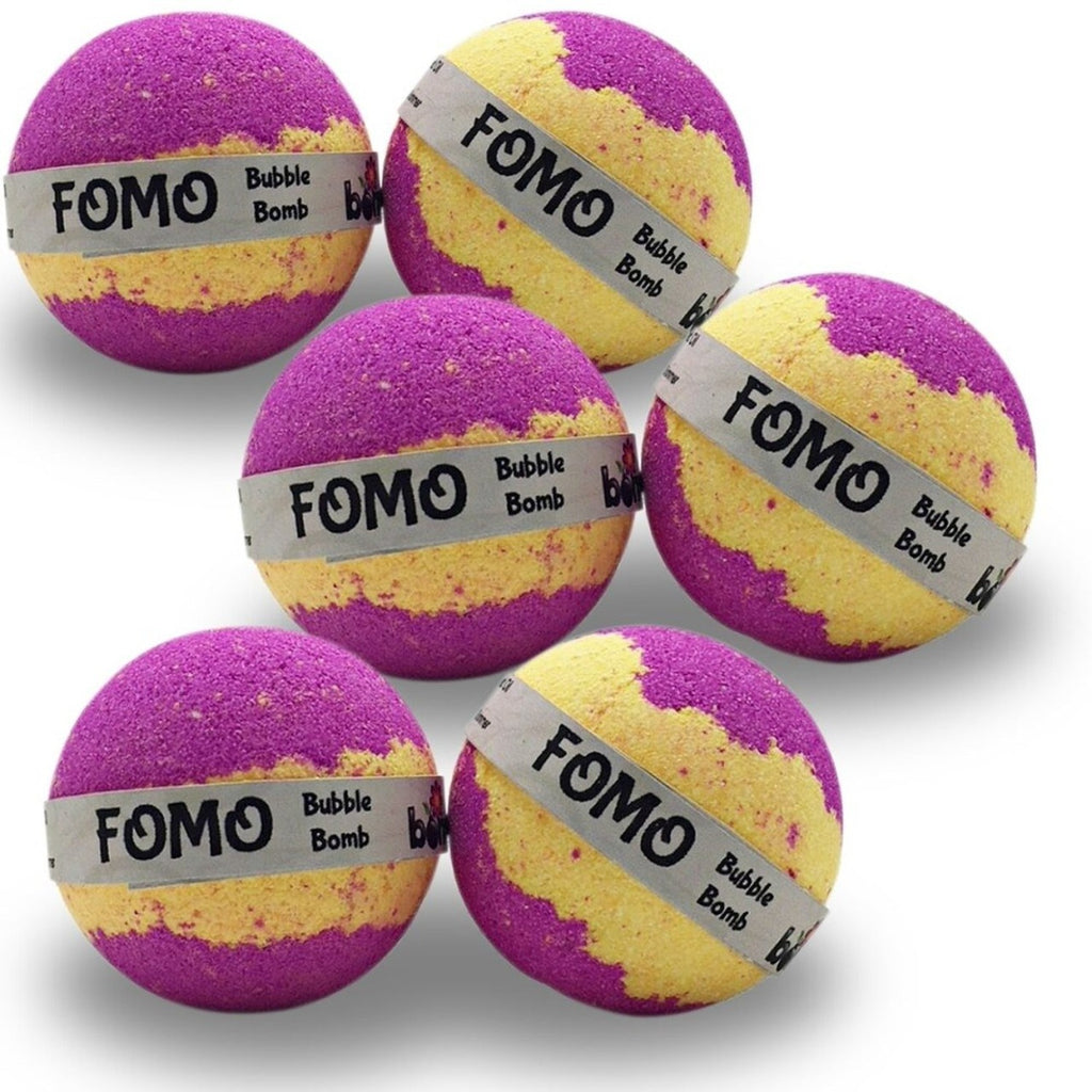 FOMO Bubble Bath Bomb 6 pack creates thick luscious bubbles that last for ages - Never Miss a Party
