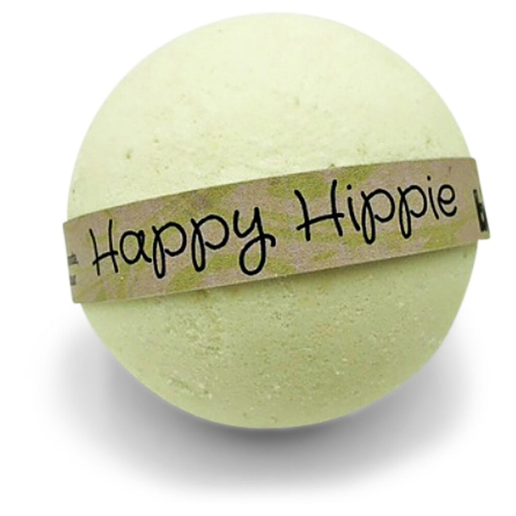 Organic Hemp Oil Body Soak Bath Bomb happy Hippie by Bomd Body Australia