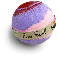 Love Spell Fizzy Bath Bomb Bubble Bath Create Mountains of Thick Lucsious Bubbles In Beautuful Purple Water By Bomd