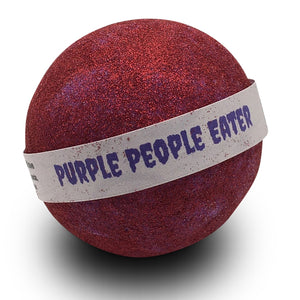 Purple People Eater Glitter Red Shimmer Bubble Bath Bomb