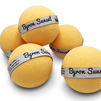 Sunset Bubble Bath Bomb Set of 6 in Beautiful Tropical Fragrance with Moisturising Butters & Oils