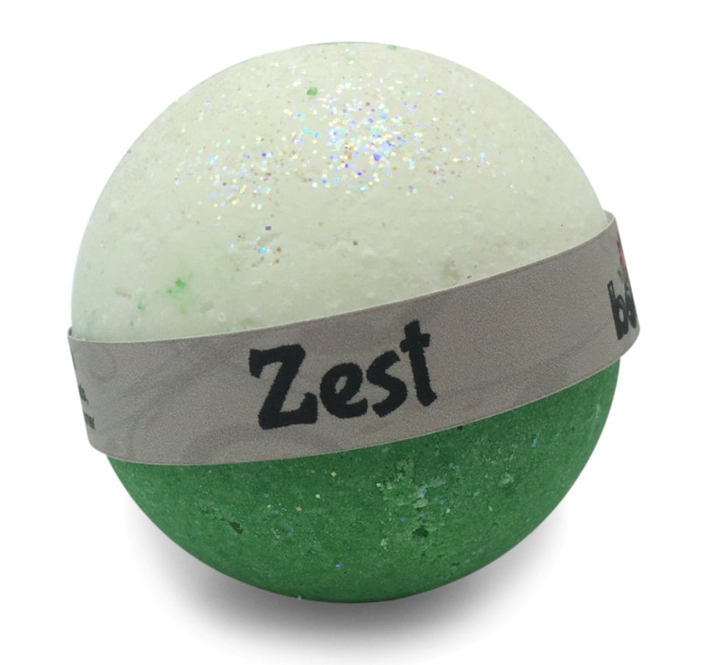 Zest Citrus Burst Bubble Bath Bomb Full of Goodness Your Skin Will Love by Bomd Body