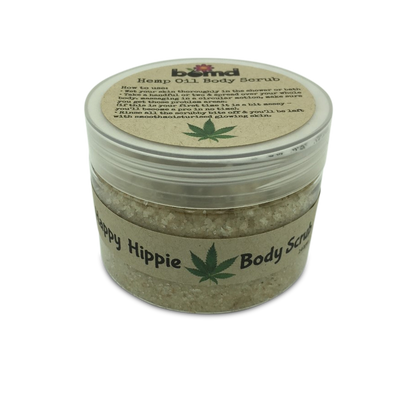 Hemp Oil All Natural Exfoliating Body Scrub with 100% Natural Essential Oils and No Added Colour
