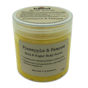 Pineapple & Papaya Sea Salt Coconut Oil with Vitamin E Summer Body Scrub by Bomd Body