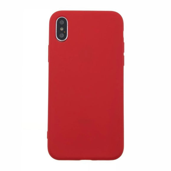 Coque en silicone Rouge pour iPhone