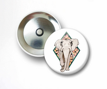Load image into Gallery viewer, Elle the Elephant  - Animal Inspired Watercolor Art Print - 2.25 Inch Refrigerator Magnet