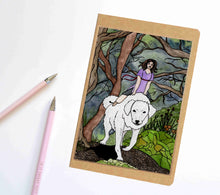 Load image into Gallery viewer, Phoebe & the Akbash, Fantasy Inspired Notebook / Sketchbook / Journal