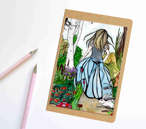 Alice, Wonderland Inspired Notebook / Sketchbook / Journal