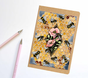 Bee Repetition, Insect Inspired Notebook / Sketchbook / Journal