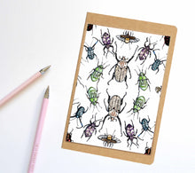 Load image into Gallery viewer, Beetle Repetition, Insect Inspired Notebook / Sketchbook / Journal