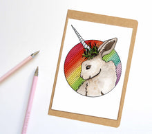 Load image into Gallery viewer, Bunnicorn, Unicorn Horn Inspired Notebook / Sketchbook / Journal