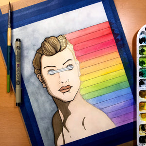 Unseen Rainbows - Pride Inspired Original Watercolor & Ink Illustration