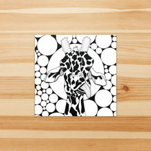 Load image into Gallery viewer, Cameleopard, Giraffe Inspired Watercolor Painting - Square Vinyl Sticker