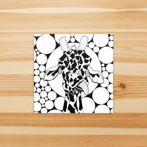 Cameleopard, Giraffe Inspired Watercolor Painting - Square Vinyl Sticker