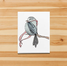 Load image into Gallery viewer, Cozy Bird - Storybook Inspired Watercolor Art Print - Handmade Note Card
