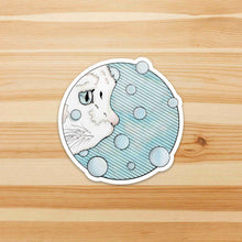 Load image into Gallery viewer, Curiosity - Precocious Cat Inspired Watercolor - Die Cut Vinyl Sticker