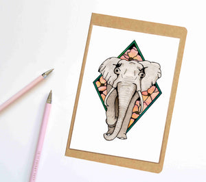 Elle the Elephant, Animal Inspired Notebook / Sketchbook / Journal